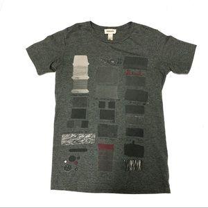 Diesel Graphic T-shirt Gray